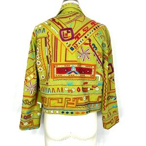 Chico's Jackets & Coats - Chico's embroidered cotton summer jacket